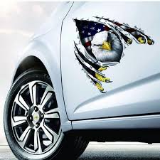 Car Decal Flying Hawk Auto Truck Hood Side Eagle Usa Flag Sticker For Vw Alarm Anime Tuning On The Funny Rc Cars Hood For Ford Car Stickers Aliexpress