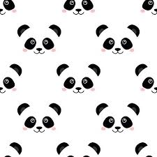 cute panda seamless wallpaper vector images