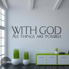With God All Things Are Possible Vinyl Wall Decal Sticker Ebay