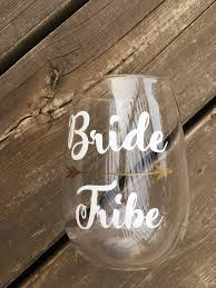 Bride Tribe Decal Bachelorette Glass Stickers Reusable Glass Etsy