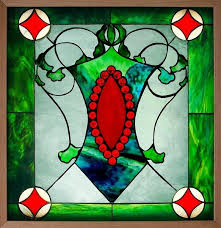 handmade stained glass window by