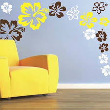 Hibiscus Flowers Wall Decal Trendy Wall Designs Contemporary Wall Decals Flower Wall Design Wall Design