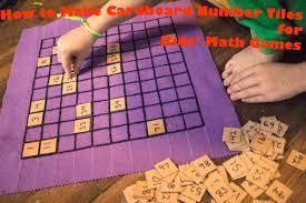 make cardboard number tiles for kids