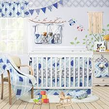 brandream plaid crib bedding set with