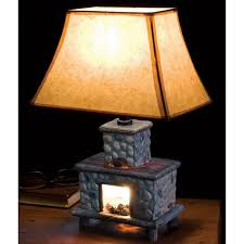 new handpainted ceramic fireplace lamp