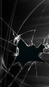 broken screen wallpaper black iphone