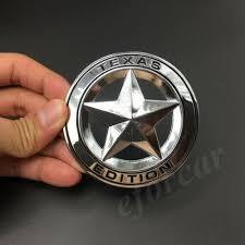 Metal Chrome Texas Edition Star Flag Car Emblem Badge Decal Sticker Jeep Chevy Rainbowlands Lk