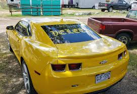 We Re Set Up Outside For The 4th Of July Applying Cool Custom Lettering Back Window Car And Truck Decals Full Intensity Grafx
