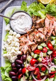Greek Salmon Salad with Tahini Yogurt ...