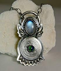 bohemian blue moonstone necklace black
