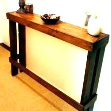 narrow bedside table with drawers