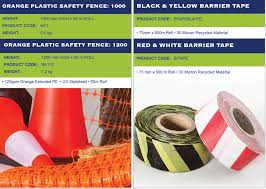 Traffic Cones Safety Fencing Barrier Tape
