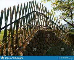 Antique Safety Bamboo Fence Asian Style Stock Photo Image Of Safety Asian 176211486
