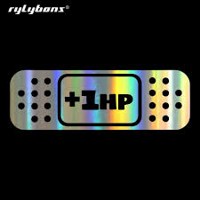 Rylybons Car Sticker 1hp Band Aid Jdm Car Bumper Stickers And Decals Car Styling Decoration Door Body Window Vinyl Stickers Shop The Nation