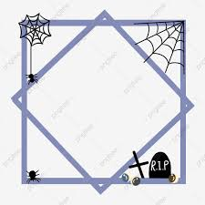 Halloween Spider Web Tombstone Border Halloween Creative Border Decoration October Halloween Halloween Theme Halloween Festival Png Transparent Clipart Image And Psd File For Free Download