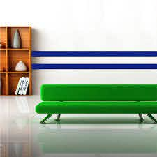 Unbranded Simple Stripes Royal Blue Peel And Stick Wall Appliques 30022 The Home Depot