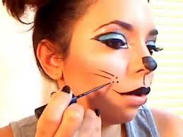 kitty cat halloween makeup you