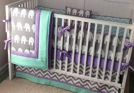 mint purple baby bedding crib set made