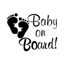 Baby On Board Footprints Car Sticker Decals L Home Glass Window Door Laptop Ebay