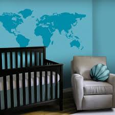 Vinyl Wall Decal Large World Map Decals 7 Continents Land Country Home House Study Room Wall Decals Wall Sticker Stickers Baby Kid Mri633 Amagicalshop On Artfire
