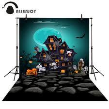 خلفيات Allenjoy لاستوديو الصور على شكل قلعة زومبي ذات رسومات