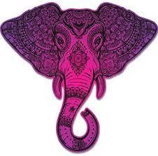 Amazon Com Elephant Henna Mandala Beautiful Large Size Vinyl Sticker Decal For Truck Car Cornhole Board Sports Outdoors