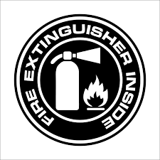 Amazon Com Fire Extinguisher Inside Decal Sticker Car Truck Window Multiple Sizes And Colors Die Cut No Background Black 4 Kitchen Dining