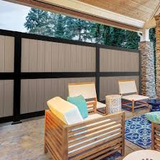 Freedom Artisan 6 Ft H X 6 Ft W Black Aluminum Flat Top Composite Fence Panel In The Composite Fence Panels Department At Lowes Com