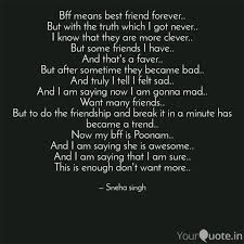 bff means best friend for quotes writings by unicorn girl