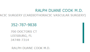 1689602161 NPI Number | RALPH DUANE COOK M.D. | LEESBURG, FL | NPI Registry  | Medical Coding Library | www.HIPAASpace.com © 2020