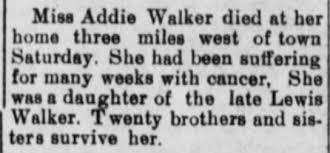 Addie Walker dies - Newspapers.com