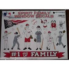 Mlb Washington Nationals Spirit Family Decals Set Of 17 By Rico Indust All Sports N Jerseys