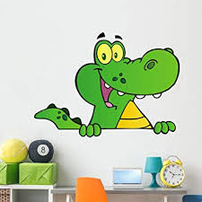 Amazon Com Wallmonkeys Alligator Or Crocodile Over Wall Decal Peel And Stick Graphic 60 In W X 43 In H Wm313746 Furniture Decor