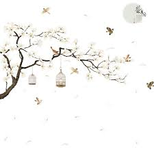 White Cherry Blossom Tree And Flower Wall Decal 3d Removable Diy Romantic 726084897069 Ebay