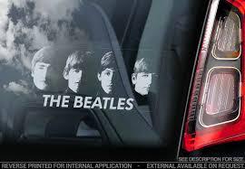 Rock Pop Artists B V03 Car Window Sticker The Beatles Sgt Pepper Band Rock Pop Lp Decal Sign Zsco Iq