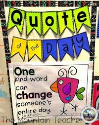 morning message quote of the day morning messages classroom