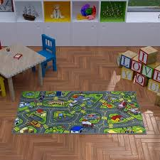 Shop Jungtier Retro City Traffic Car Road Map Educational Learning Game Area Rug Carpet For Kids And Children Room 2 7 X 5 0 Overstock 30437691