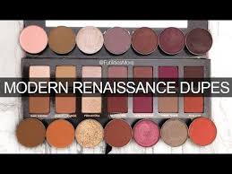 modern renaissance palette dupes with