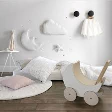 3pcs Set Moon Star Wall Decor Ins Nordic Style Cotton Cloud Ornaments Kids Room Decorations Wall Stickers Photography Props Wallcorners Art Canvas