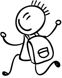 Sticker enfant dessin cartable - TenStickers