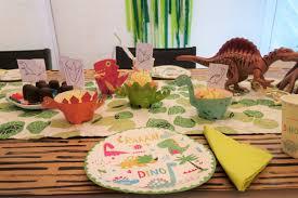 17 x 10 cm motiv : Dinosaurier Party Zum Kindergeburtstag Mit Deko Spielen Kuchen
