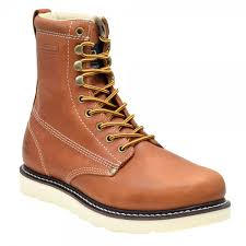 round toe work boots oil tanned leather
