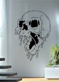 Melting Skull Art Decal Sticker Wall Vinyl Boop Decals