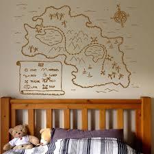 Pirate Map Vinyl Wall Decal Kids Zone Play Room Decor Art Stickers Mural Cartoon Ship Pirate Children Boys Nursery Bedroom 3001 Wall Stickers Aliexpress
