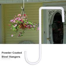 Vinyl Fence Hook Patio Powder Coated Steel Hanger For Indoor Outdoor Hanging Lights Plants Planters Bird Feeder Pool Equipment Hanging Baskets Aliexpress