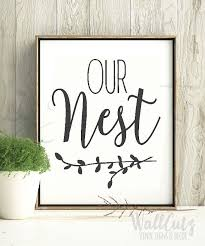 Farmhouse Style Vinyl Decal Our Nest Decal Our Nest Sign Etsy Farmhouse Style Diy Farmhouse Style Sign House Warming Gifts