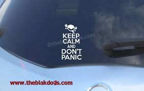 Keep Calm And Don T Panic Vinyl Sticker Car Decal Etsy