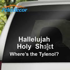 22 9cm Funny Christmas Vacation Where S The Tylenol Vinyl Sticker Car Decal Art Car Window Decor Xmas Quotes White Black L713 Car Stickers Aliexpress
