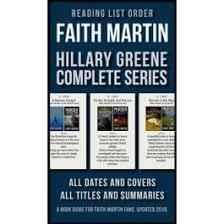 Reading List Order of Faith Martin Hillary Greene Series
