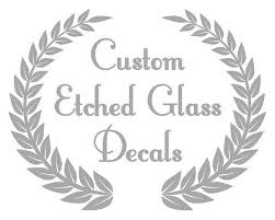 custom etched glass decals great for